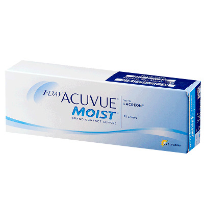 Линза контактная Acuvue 1-DAY Moist BC=8,5 -1,75 №30